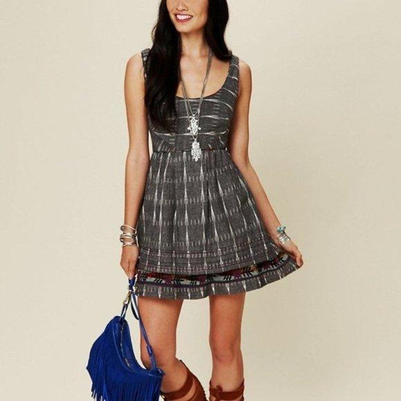 Free People Dresses & Skirts - New Romantics Free People Weather Vane Ikat Dress